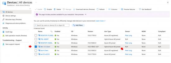 Check Hybrid Azure AD Join Status