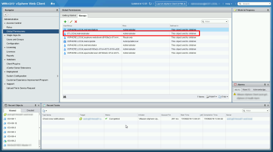Global Permissions VMware