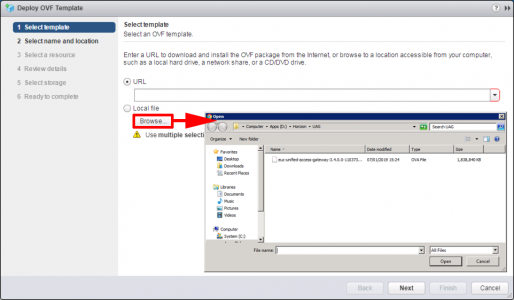 Deploy VMware UAG OVA