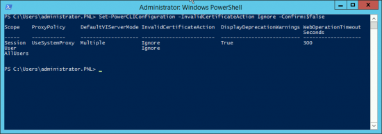 PowerCLI Certificate Errors