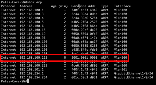 EVE-NG ESX ARP Issue
