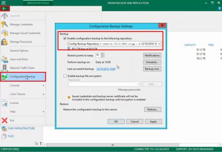 Move Backup- Configuraiton Job to new repository