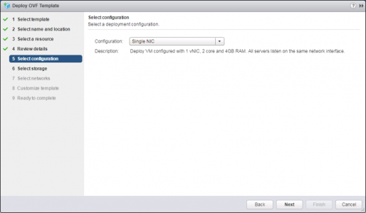 Deploy VMware UAG OVA Single NIC