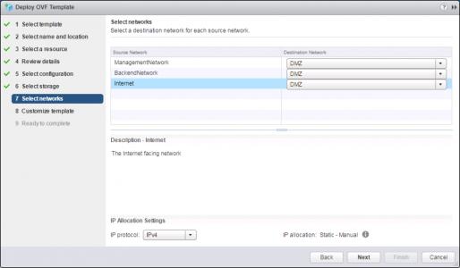 Deploy VMware UAG OVA Networks