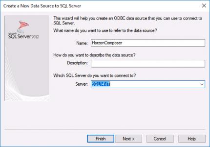 Composer ODBC Setup