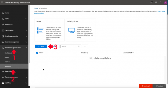 O365 Retention Policies