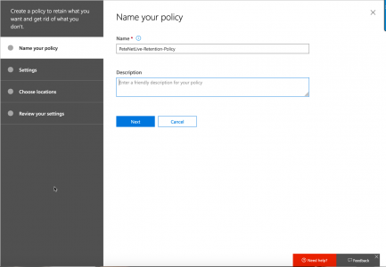 OneDrive and Exchange Retention Policies