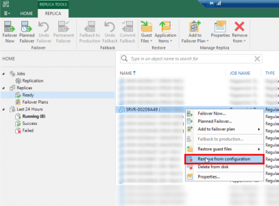 Veeam Remove VM From replication