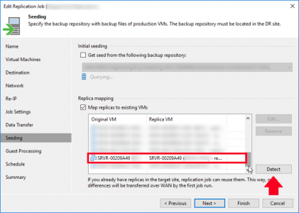 Replication mapping Veeam