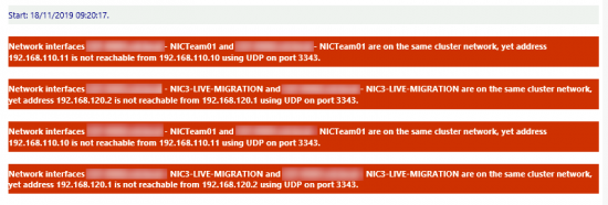 Cluster not reachable UDP Port 3433