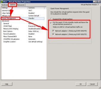 ESX 4 5 Options Stop Windows Suspend