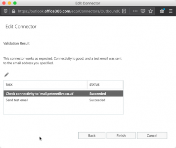 Sucessfully Validate Office365 Fails