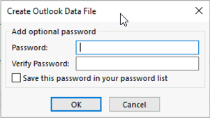 Password protect PST