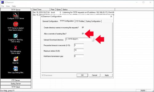 Configure 3CDaemon TFTP