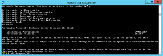 Cant continue powershell has open files