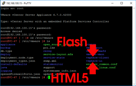 vSphere HTML5 CLient properties