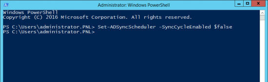 Stop Azure AD Sync