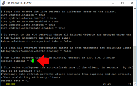 vSphere HTML5 Change Client timeout properties