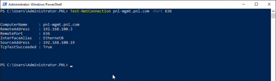 Test LDAPS With PowerShell