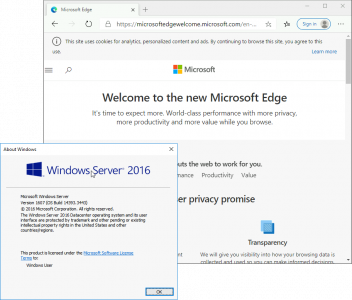 How To run Edge on Server 2016