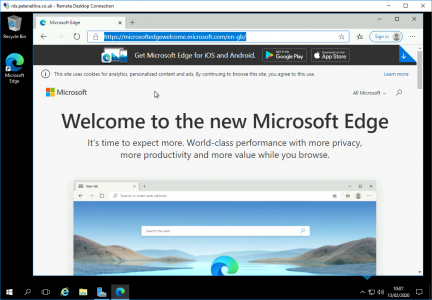 RDS Server Microsoft Edge