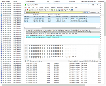 BAD_ADDRESS Wireshark