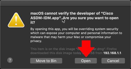 Cannot run ASDM on macos