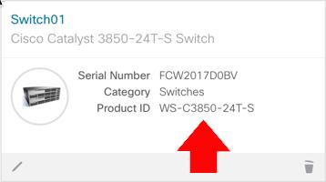 Cisco Switch Get SKU form Serial Number