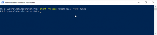 Switch PowerShell to Administrative Mode