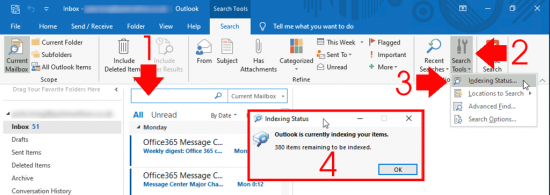 Fix Outlook Search Not Working