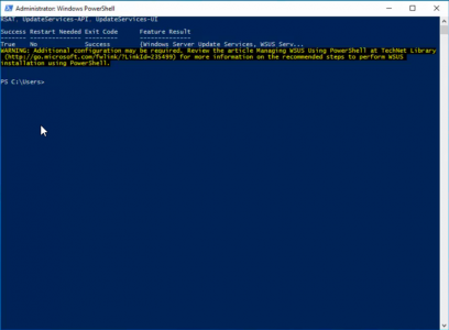 Install WSUS and WID From PowerShell