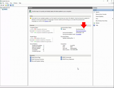 WSUS Server Check Syncronization Progress