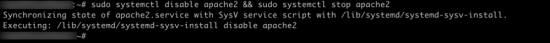 Ubuntu Stop and Disable apache