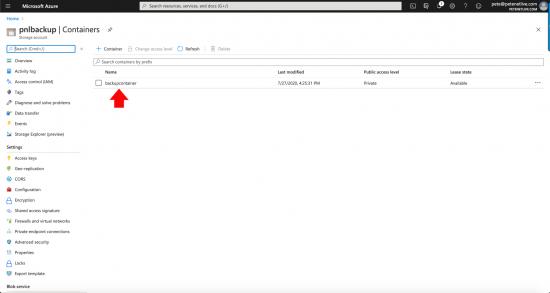 Veeam Add Azure Storage Account Container
