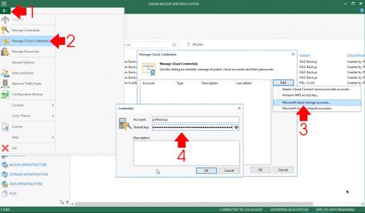 Veeam Add Azure Storage Account