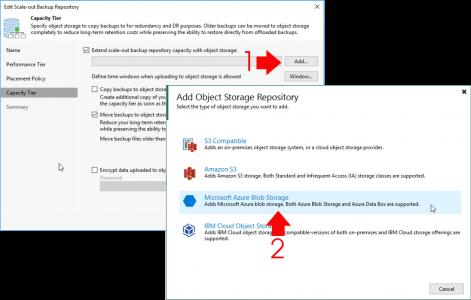 Veeam Add Azure Blob Storage