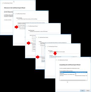 Export Azure Generate VPN Certificates to PFX