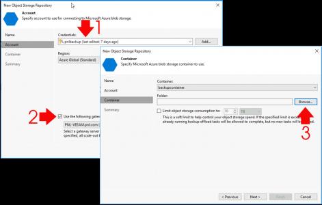 Veeam Add Azure Cold Blob Folder