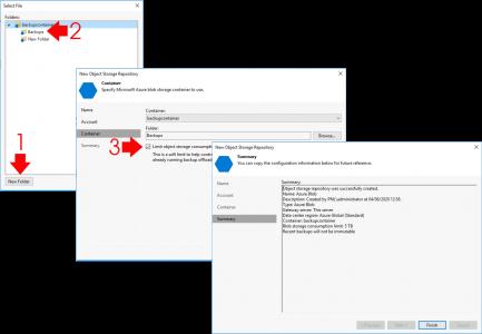 Veeam Add Azure Cold Blob Storage Limit