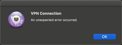 mac Azure Point to Site VPN error