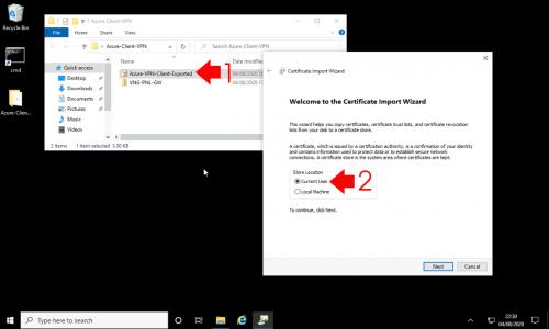 Azure Deploy VPN Client Cetiificate