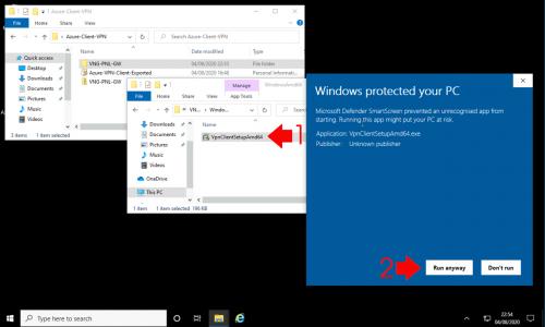 Azure Deploy VPN Client Software