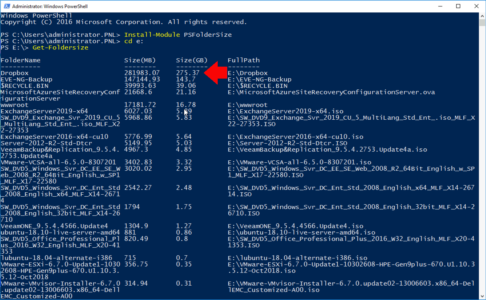 PowerShell Hard Drive Full