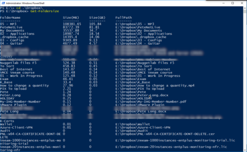 PowerShell Diagnose Hard Drive Full