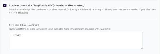 Exclude inline Java WP-Rocket