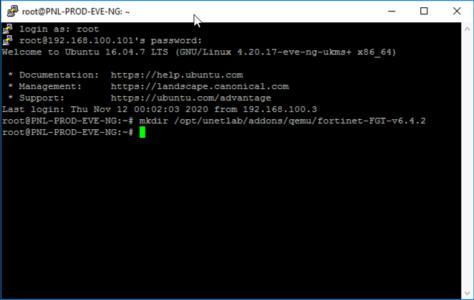 EVE-NG Fortigate VM Folder Naming