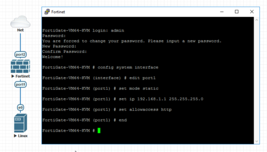 Configure Fortigate for Web Access