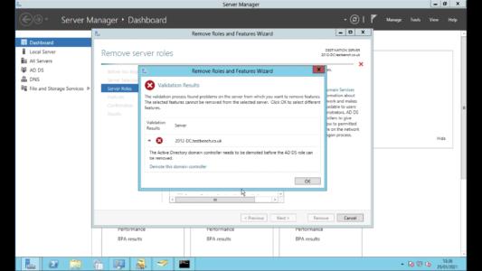Remove Windows 2012 Domain Controller
