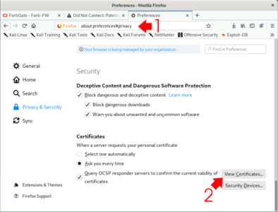 Firefox View Trusted CA Certificates
