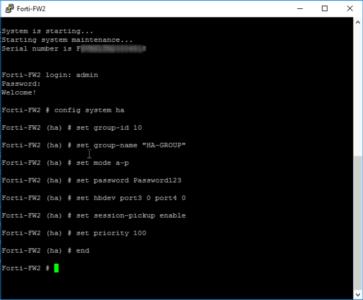 FortiGate HA Failover Configure Passive Standby